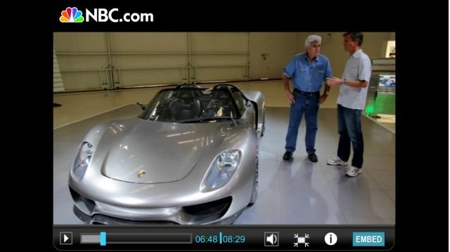 Jay Leno gets a tour of the Porsche 918 spyder