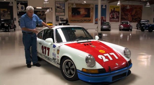 Jay Leno with Magnus Walker's 1971 Porsche 911T