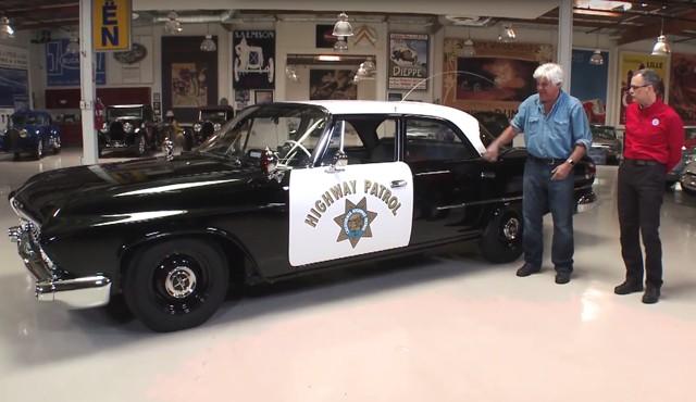 Jay Leno Looks For Perps In 61 Dodge Polara Police Car