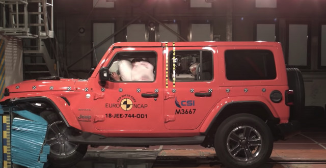 2018 Jeep JL Wrangler Euro NCAP crash test