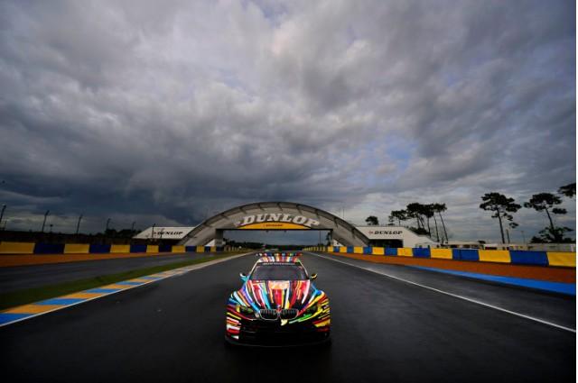 Jeff Koons BMW M3 GT2 Art Car on track at Le Mans