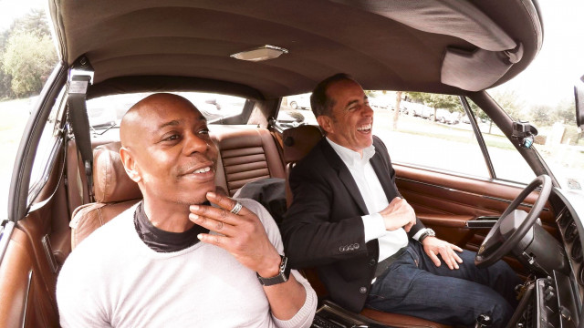 Jerry Seinfeld and Dave Chapelle get coffee on cars in season 6 of comedians