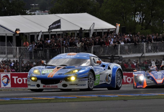 Jet Alliance Lotus Evora GT1 at Le Mans in 2011 - Anne Proffit photo