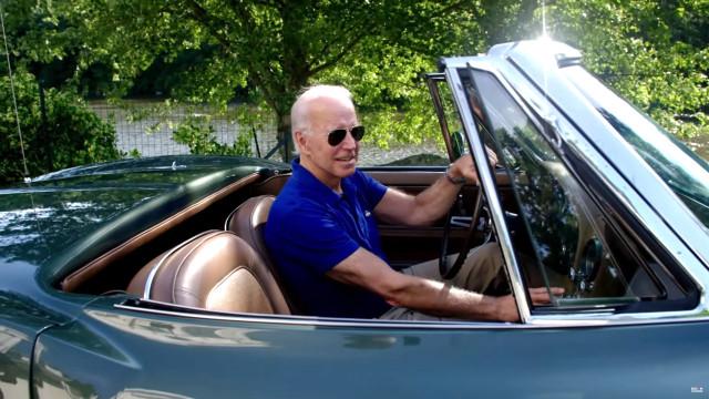 Joe Biden in C2 Corvette - campaign video