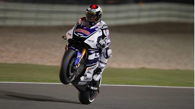 Jorge Lorenzo earns Qatar pole - courtesy MotoGP