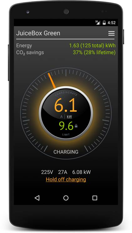 Juicebox Green mobile app