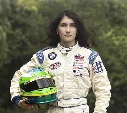 Julia Landauer, ready for racing. Photo courtesy of Emily Dehn Knight.