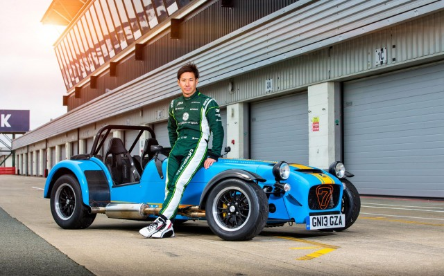 Kamui Kobayashi and the 2014 Caterham 620R