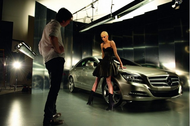 Karolina Kurkova and the Mercedes-Benz CLS