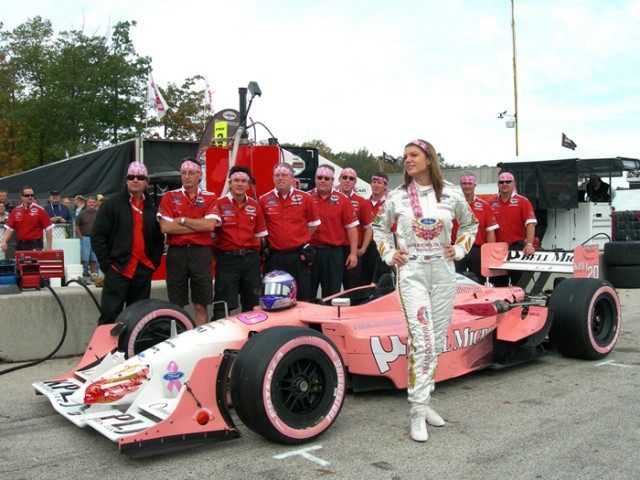 Katherine Legge and her PKV Champ Car team at Road America in 2006 - Anne Proffit photo
