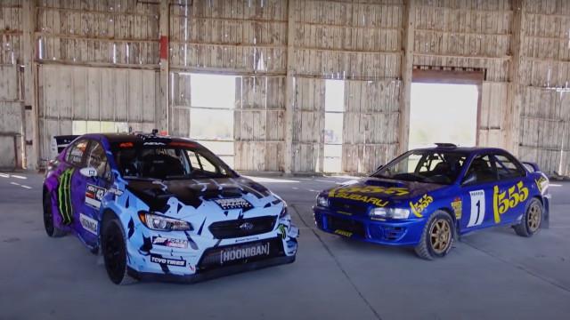 Ken Block compares 2021 Subaru WRX STI and 1997 Subaru Impreza rally cars