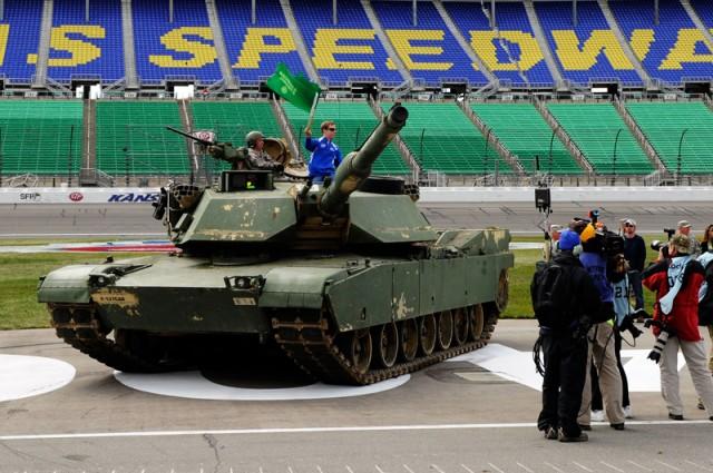 Keselowski prepares to tank the track - NASCAR photo