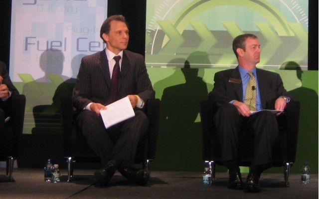 Kevin Czinger, Coda Automotive CEO & Brian Wynne, EDTA President