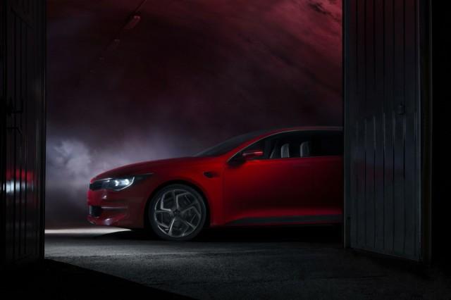 Teaser for Kia Optima concept debuting at 2015 Geneva Motor Show
