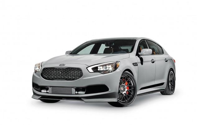 Kia builds high-performance K900 for 2014 SEMA show
