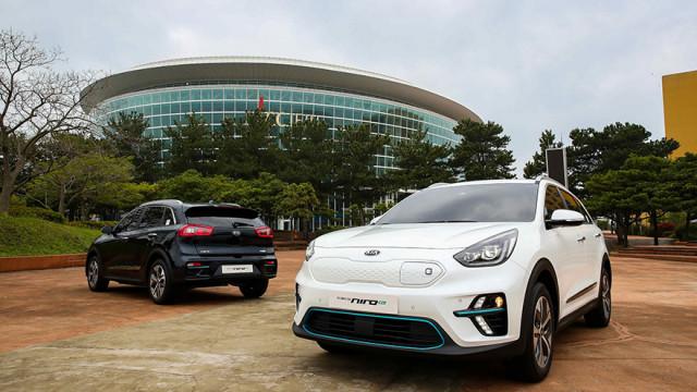 Kia Niro EVs in Korea