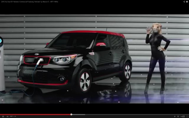 Kia Soul EV with 'hamsters'  -  August 2014