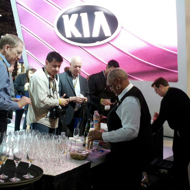Kia's much-appreciated bar at the 2013 Chicago Auto Show