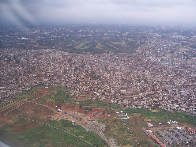 Kibera slums outside Nairobi, Kenya, by Flickr user Chrissy Olson
