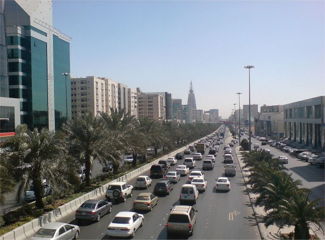 King Fahd Road in Riyadh, Saudi Arabia