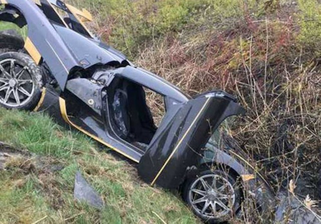 Koenigsegg Agera RS crashed during testing - Image via Expressen