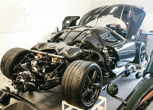 Koenigsegg Agera RS that was involved in a crash on May 11, 2017