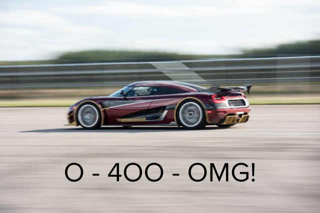 The Koenigsegg Agera RS just destroyed Bugatti's 0-248.5-0 record