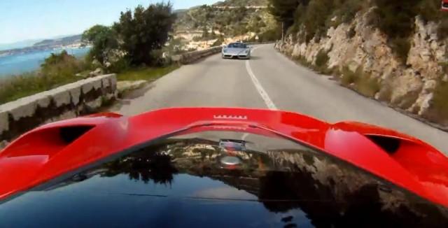 LaFerrari versus Enzo on a mountain road