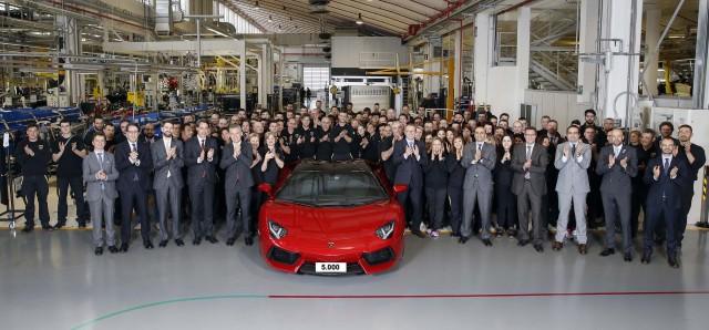 Lamborghini builds its 5,000th Aventador