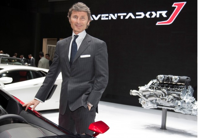 Lamborghini CEO Stephan Winkelmann at the 2012 Geneva Motor Show