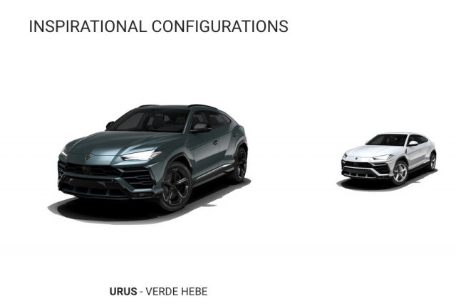 Lamborghini Urus configurator is up and running