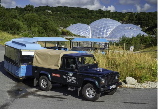 Land Rover Electric Defender at the Eden Project, Cornwall