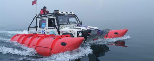 Land Rover makes record journey across Bering Strait