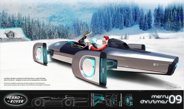 Land Rover Santa Sled