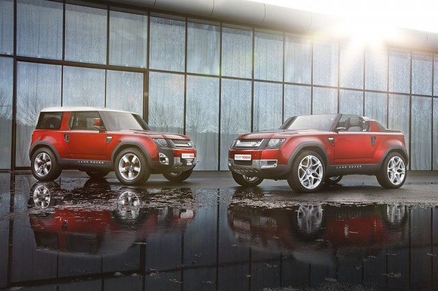 Land Rover Defender Concept 100 in Firenze Red