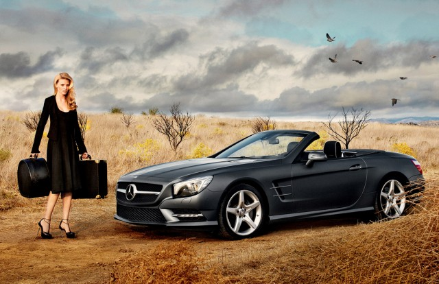 Lara Stone and Mercedes-Benz SL star in new Calvin Klein campaign