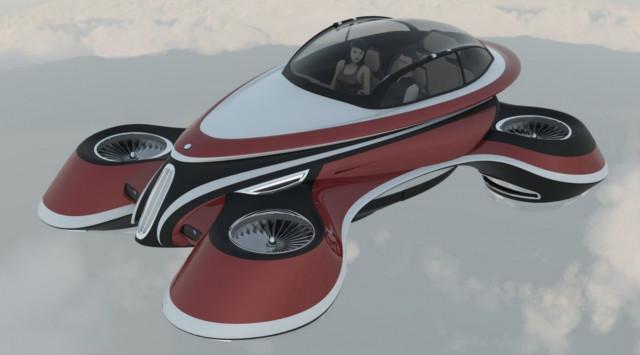 Lazzarini Design flying hover car concept
