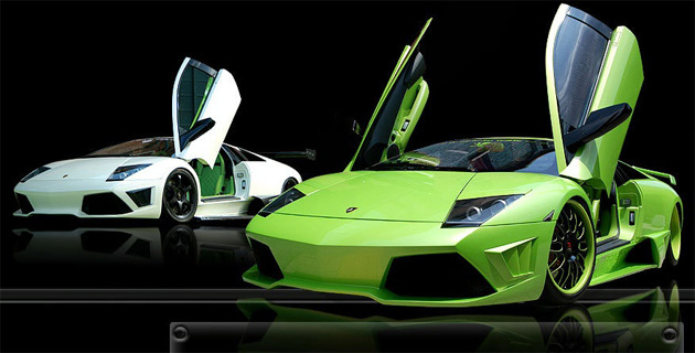 LB Performance kits are designed to make the standard Murcielago appear more like the LP640 and Reventon models
