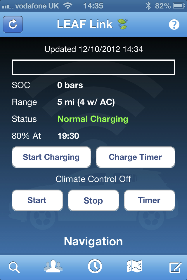 nissan leaf gets remote charger timer with leaf link iphone app. Black Bedroom Furniture Sets. Home Design Ideas