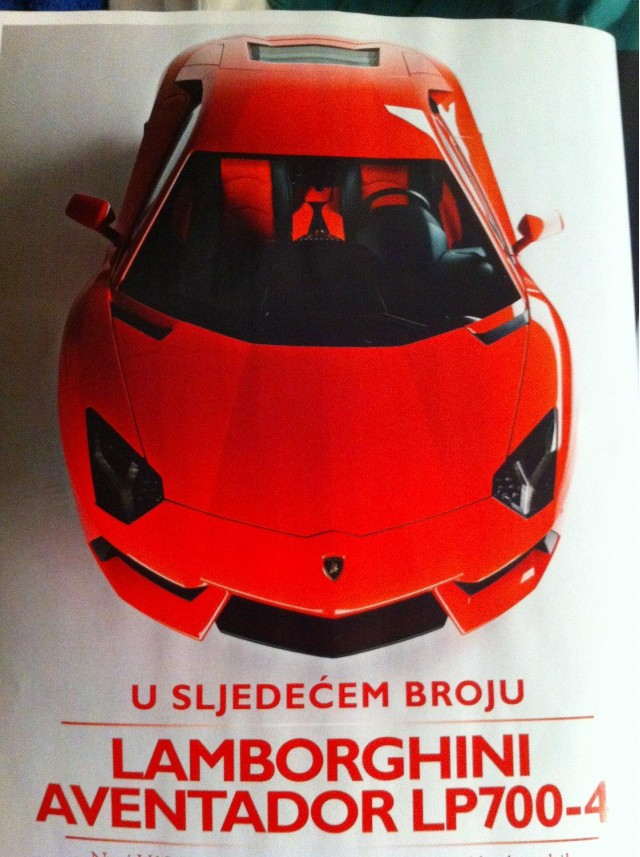 Leaked Lamborghini Aventador LP700-4 image