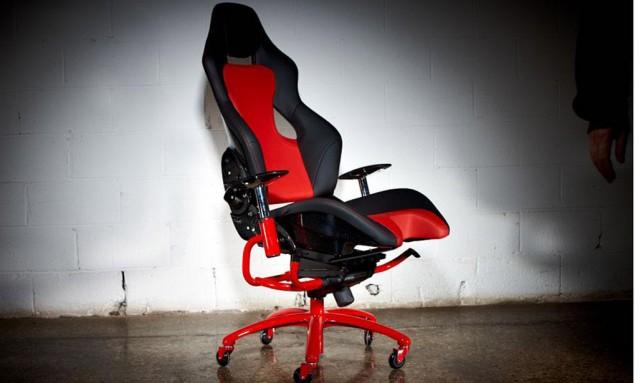 Leather and Alcantara Ferrari office chair