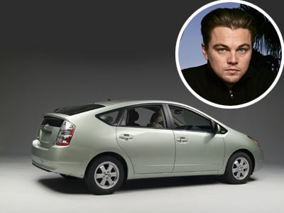 Leonardo DiCaprio was the first Hollywood star to be seen taking a Toyota Prius to the Oscars