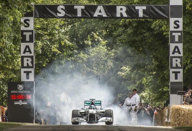 Lewis Hamilton at Goodwood 2015
