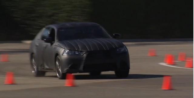 The 2013 Lexus GS attacks an autocross course