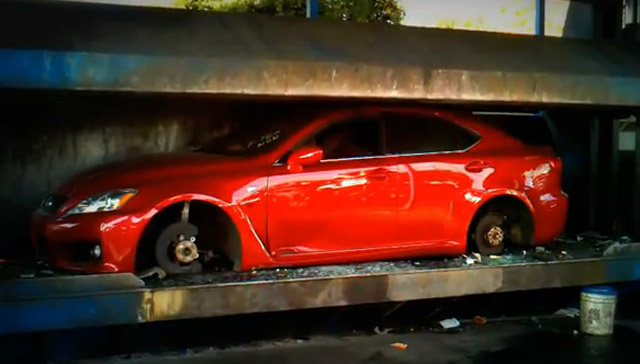 Lexus Is F Crushed For Street Racing Video