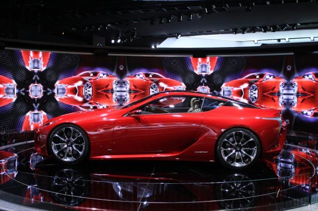 Lexus LF-LC Concept live photos, 2012 Detroit Auto Show