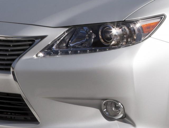 Lexus' teaser image for the 2013 ES sedan.