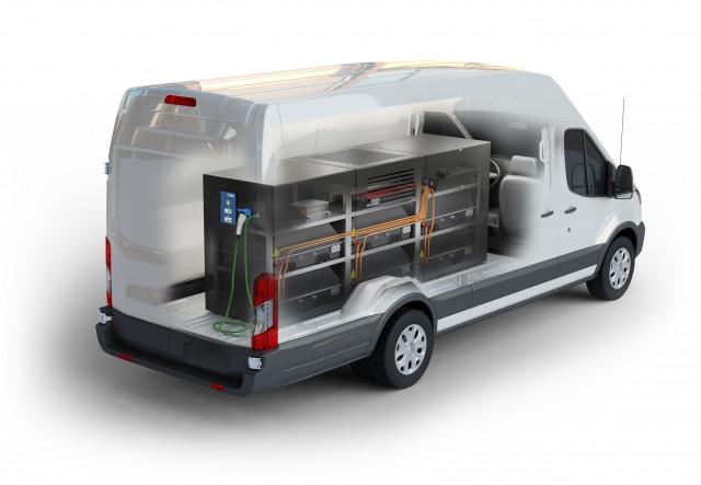Lightning Mobile charging system in Ford van