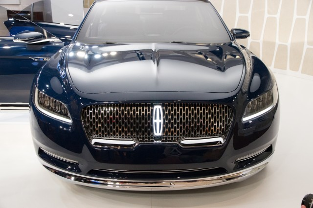 black lincoln car 2015. lincoln continental concept unveiling new york city march 29 2015 black car c