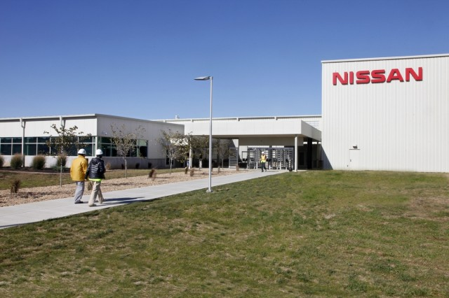Nissan lithium-ion cell fabrication & battery pack assembly at Nissan plant in Smyrna, Tennessee